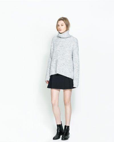 Zara Denim Pleated Skirt 39