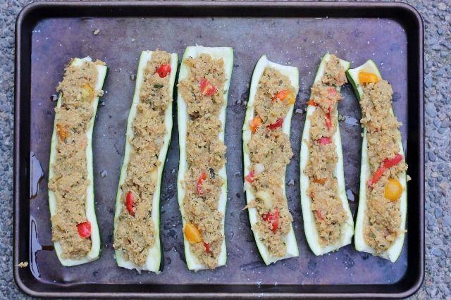 Quinoa Stuffed Squash Boats | healthy dinner recipes | Pinterest