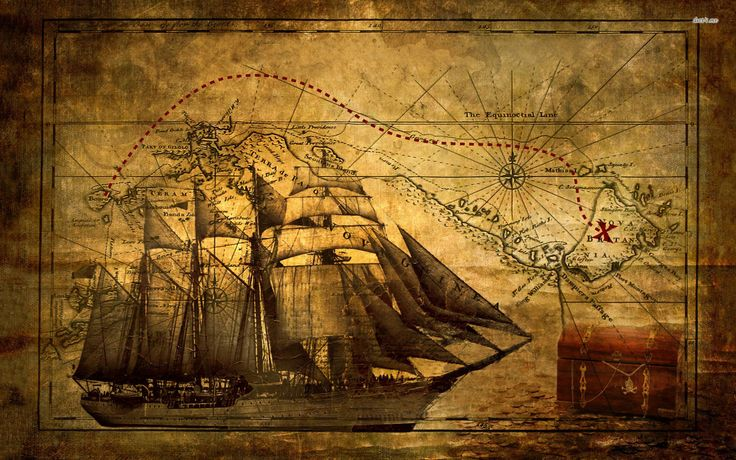 Old Map Of A First Fleet Ship Wonderful Powerpoint