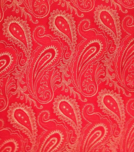 Brocade Fabric-Brocade Red Paisley & Special Occasion at Joann.com [a ...