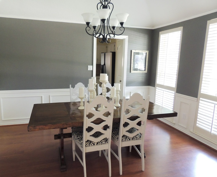 gray and white dining room my home and projects pinterest