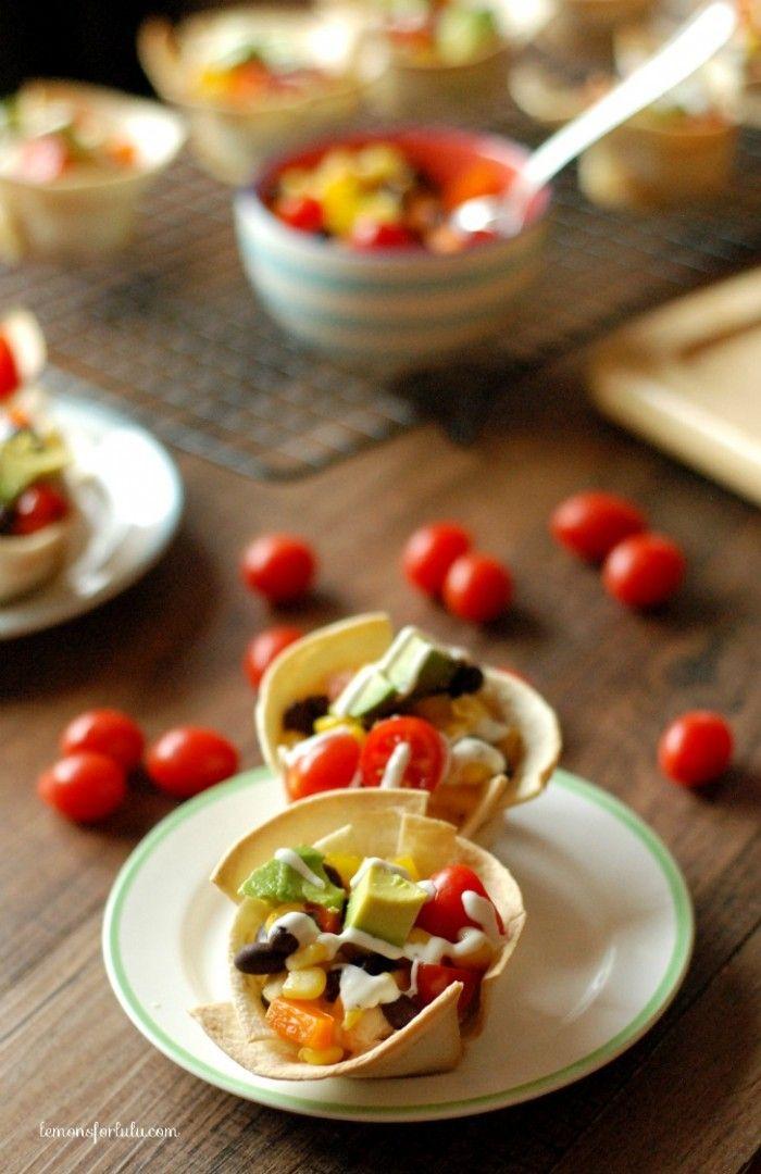Mini Steak And Bean Taco Cups Recipe — Dishmaps