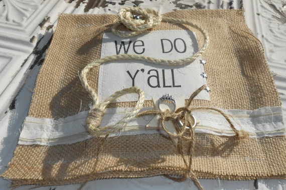 Rustic Country Ring Bearer Pillow with Southern by PleasantLeeHome, $24.50