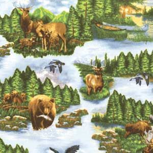 SCENIC NORTHERN EXPOSURE FLANNEL FABRIC