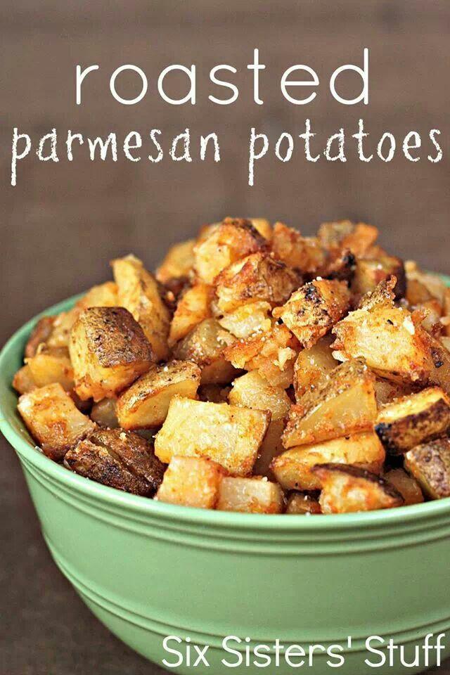 Roasted Parmesan potatoes. | Food | Pinterest