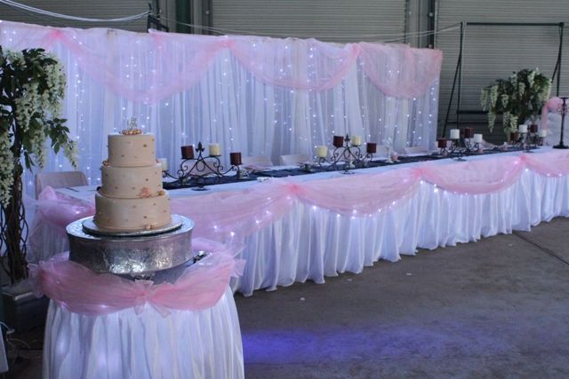 Tulle around table party decorations pinterest