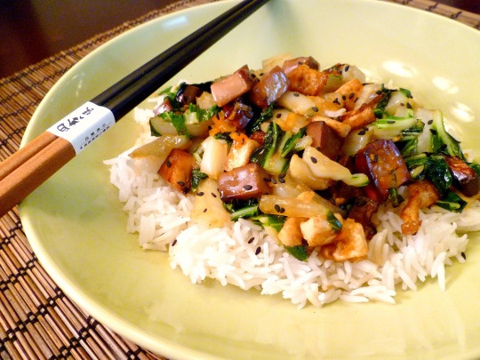 Toasted Cashew Nut, Bok Choy and Baked Tofu with Marmalade Sauce ...