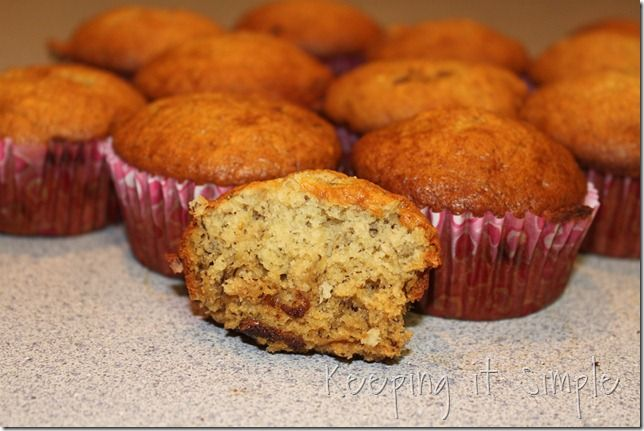 Keeping it Simple: Banana bread muffins-- I just made these and it was ...