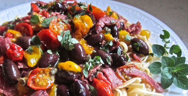 Linguine with Oven Roasted Tomatoes.   Food   Pinterest