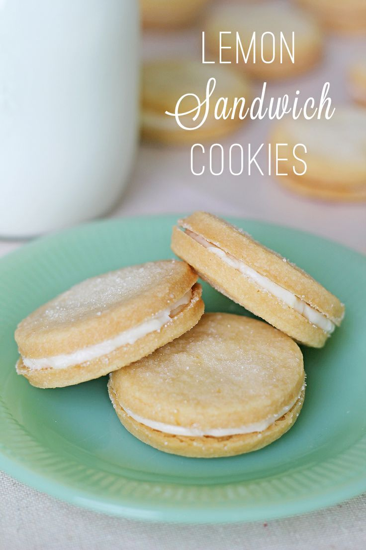 Lemon Sandwich Cookies | Sweets | Pinterest