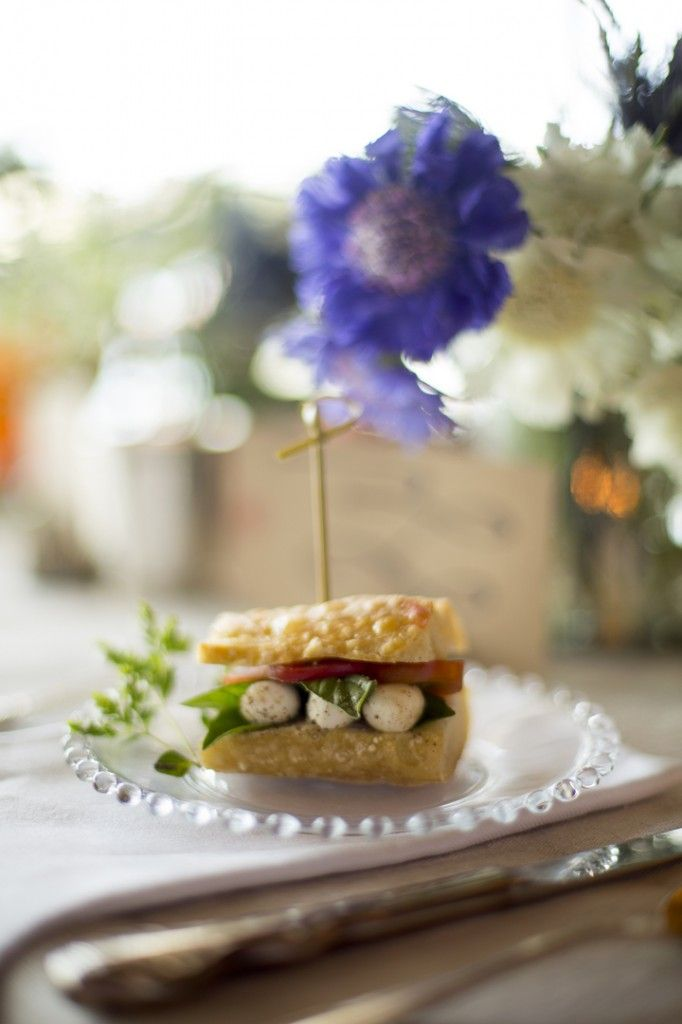 Mini caprese sandwich recipe | Delish- Foods for the party | Pinterest