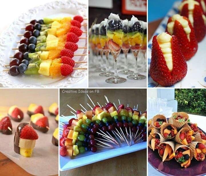 Creative fruit dessert ideas party craft ideas pinterest - Fruit designs for parties ...