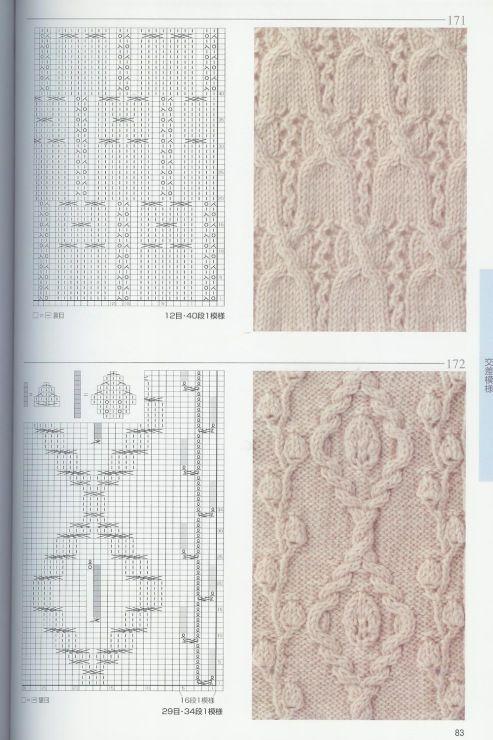 Описание вязания японских узоров 165