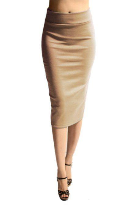 below knee pencil skirt clothing random