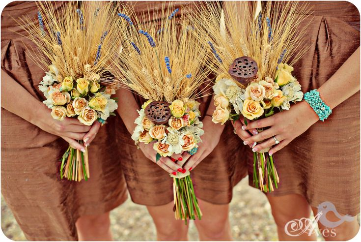 Wheat Bouquets. <3