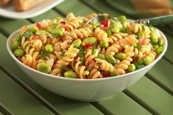Sesame-Soy Edamame and Pasta Salad | If only I could cook | Pinterest