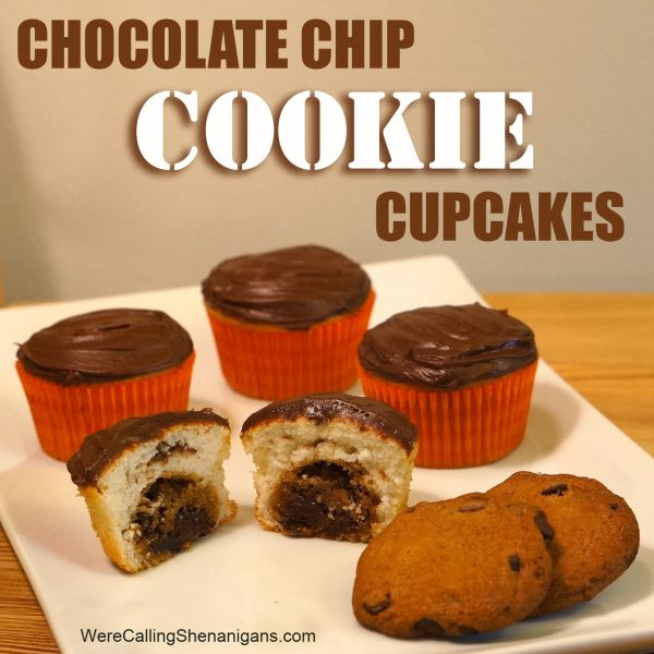 Chocolate Chip Cookie Dough + Cupcake = The BEST Cupcake Ever Recipe ...