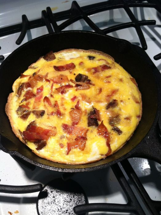 bacon, potato, and cheese frittata | Food | Pinterest