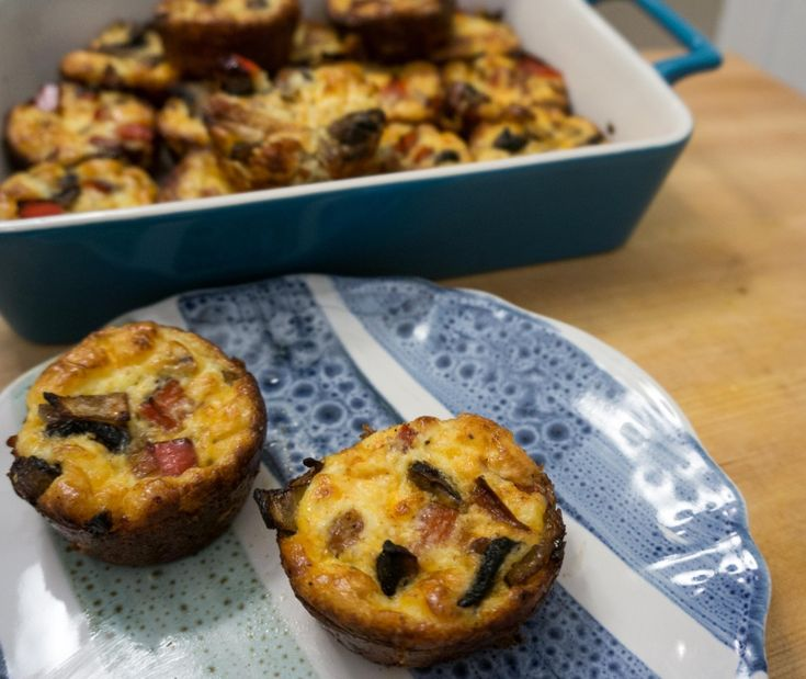 Crustless Mini Quiches | I'd Cook That | Pinterest