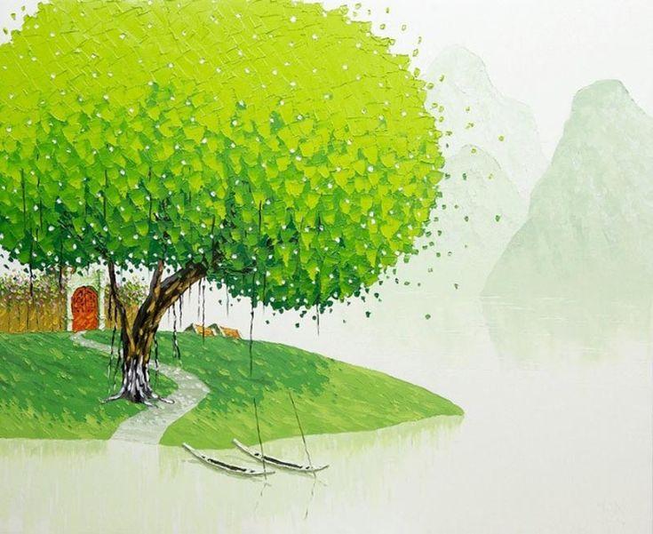 Phan Thu Trang (Вьетнам), техника импасто