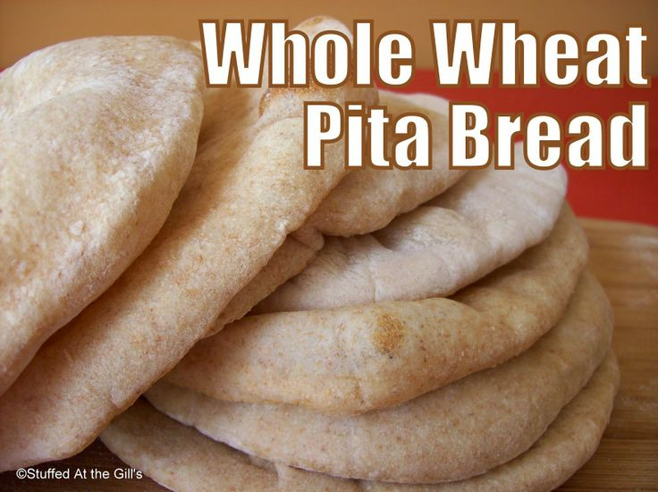Stuffed At the Gill's: Homemade Whole Wheat Pita Bread can't be beat ...
