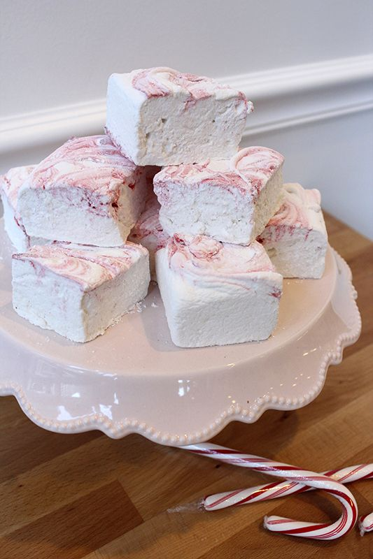 Peppermint Swirl Homemade Marshmallows | bizcochos para damas | Pinte ...