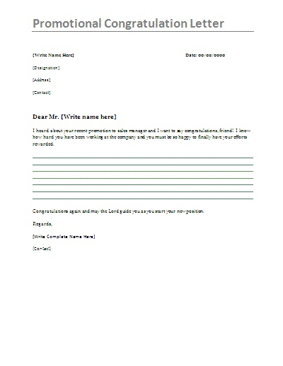 How to write congratulation letter on promotion overall favourite how to write congratulation letter on promotion thecheapjerseys Gallery