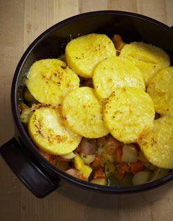 Root Vegetable Pot Pie - w polenta | Recipes | Pinterest