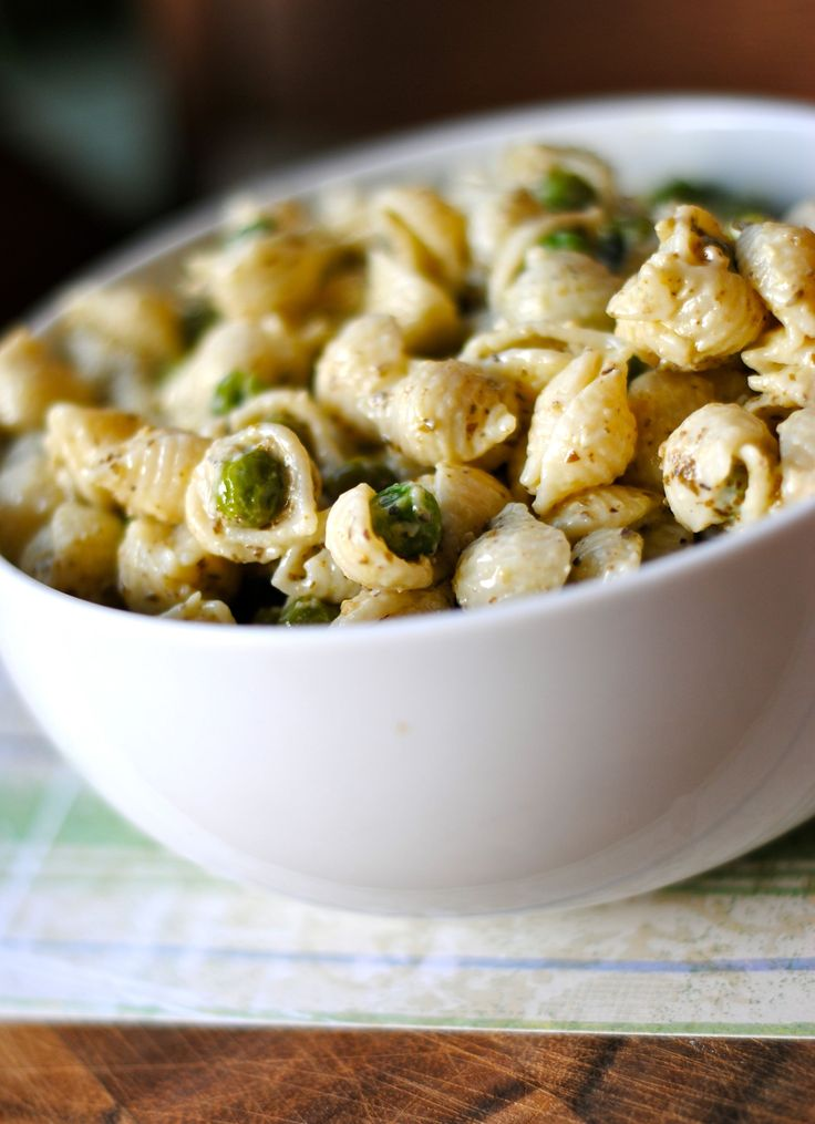 pesto and peas recipe yummly peanut pesto and peas pasta salad steamy ...