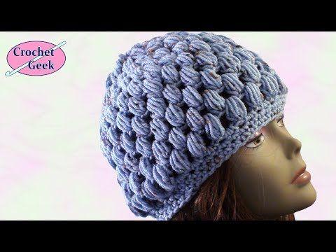 Crochet Knit Stitch Hat : Crochet Puff Stitch Hat - YouTube crochet/knit Pinterest