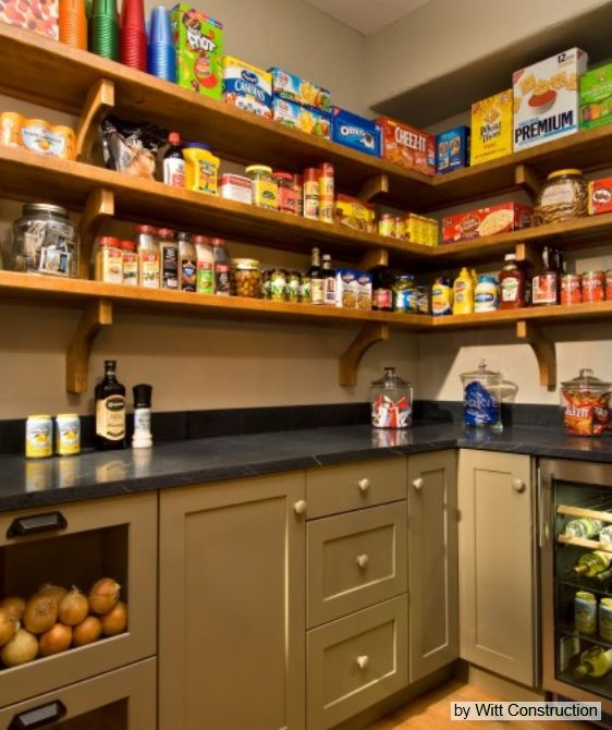 Walk In Pantry with Refrigerator