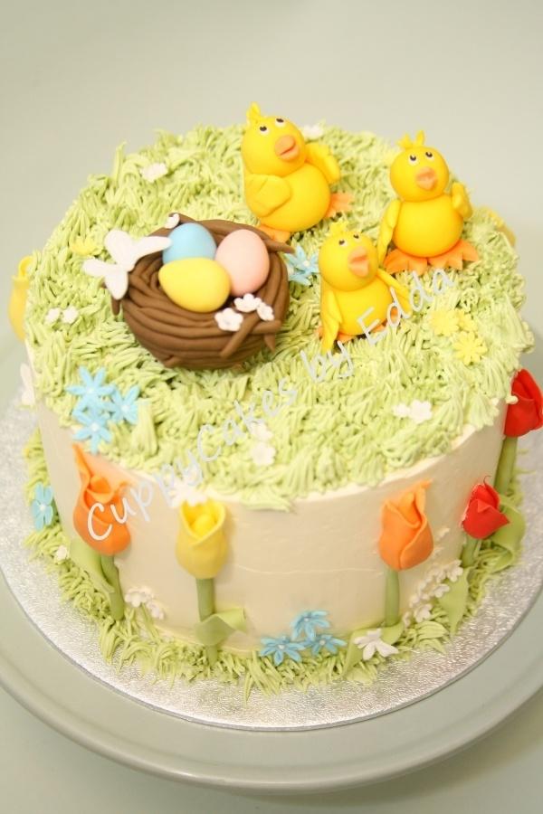 Easter Cake Decor : Baby Chicks Easter Cake Decorating Tutorials (FOOD ...
