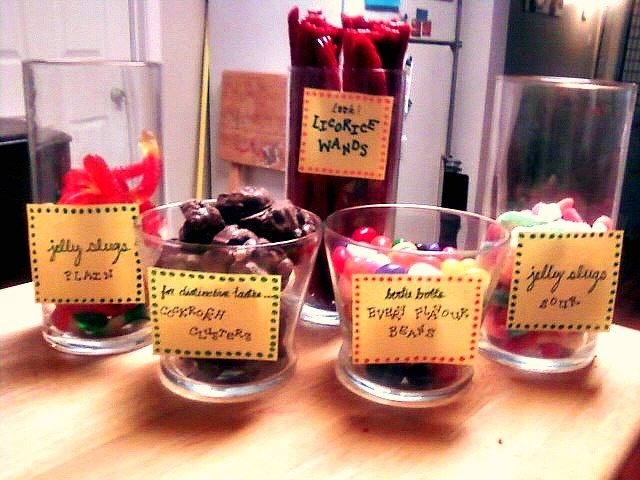 Harry potter centerpiece candy bar party