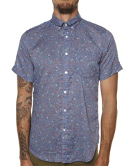 WEATHERED OLIVER SS SHIRT - FLORAL PRINT