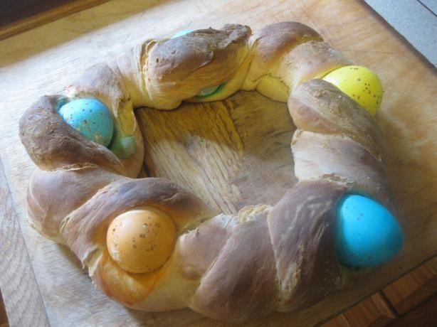 Polish Braided Easter Egg Bread | Recipe