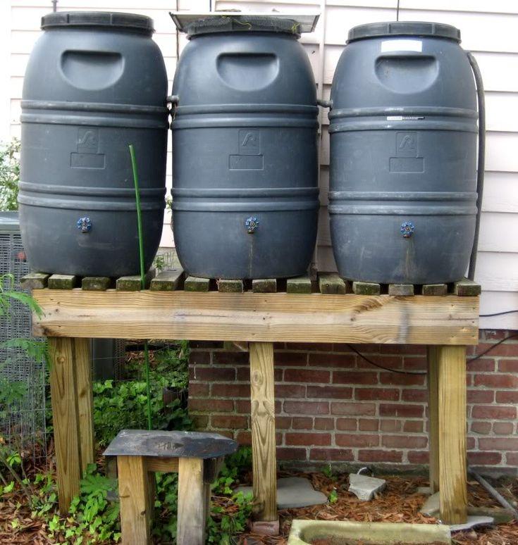 Rain Barrel Stand Gardening Shit Pinterest
