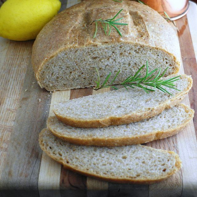 herb bread w/ lemon & rosemary infused olive oil.