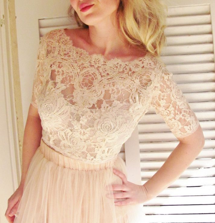 Blush pink lace bridal cover up loving the lace pinterest for Lace blush wedding dress