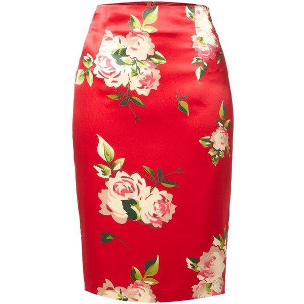 Rose Print Skirt 5