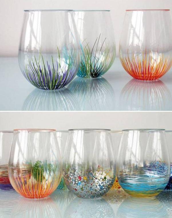 Diy Colorful Vase Decor Craft Ideas Pinterest