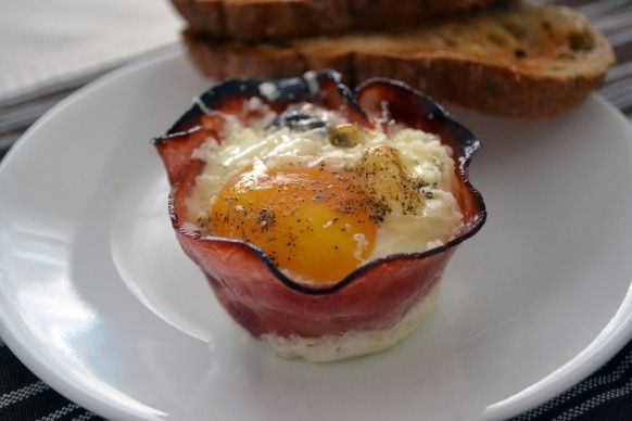 Baked Eggs in a Ham Cup FROM Little Bites Of Everything