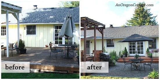 Small backyard makeovers before and after