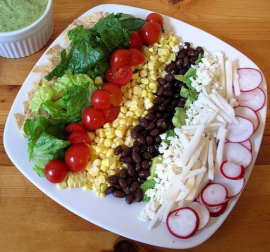 Taco Salad: No stove is required to brown beef in this meatless taco ...