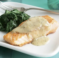 Sear-Roasted Salmon Fillets with Lemon-Rosemary Butter Sauce | Recipe