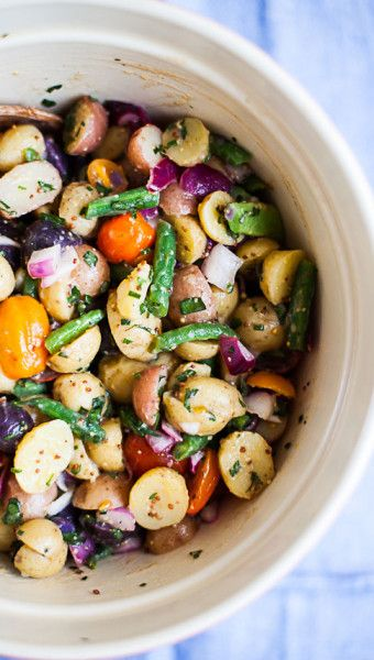 Red, White and Blue Potato Salad | Food | Pinterest