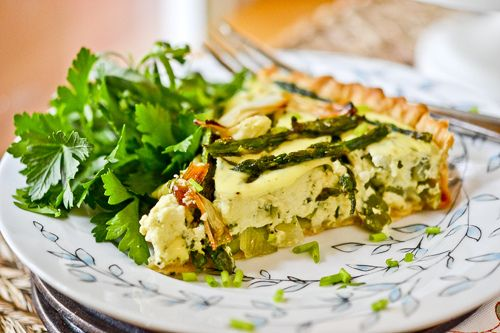 Our Spring Vegetable & Goat Cheese Tart, recipe from Bon Appetit, May ...