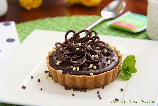 Peanut Butter Tart w/ Shortbread Crust and Chocolate Ganache Glaze