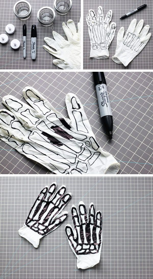 DIY Skeleton Hands.