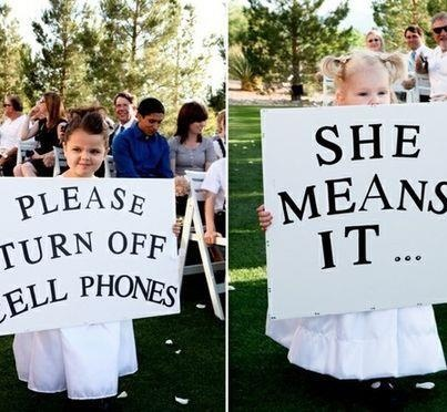 Flower girls sending a strong message before the #bride walks down the aisle - Photography source unknown