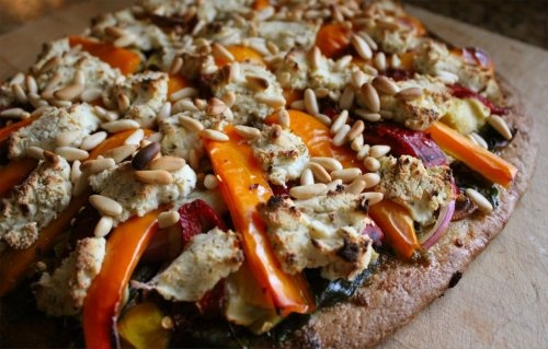 Loaded Veggie Pizza with DeLallo goodies! Looks great! // Inside ...